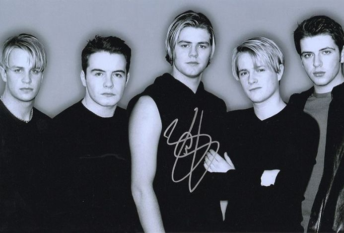 Brian McFadden, Westlife, signed 12x8 inch photo.(2)